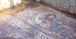 Mosaic of Poseidon from Aegae (by Hurriyet Daily News)