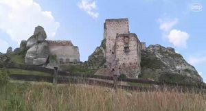 Olsztyn castle (still from a movie by Marek Klapa)