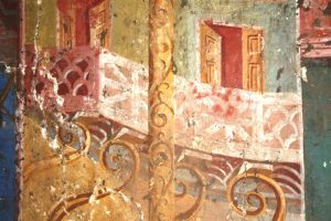 Details of the Roman villa's paintings (by L'Espresso)