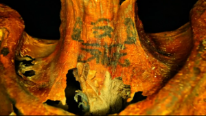 On of many tattoos found on the mummy (by CBC News)