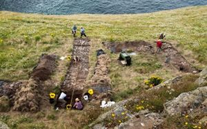 Excavation of the Tintagel Castle site (by The Telegraph)