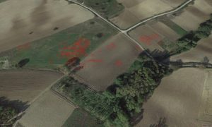 Interpretation of the cropmarks on the aerial photo (by Live Science)