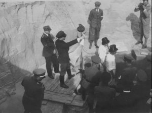 Ceremony of erecting the corner stone for the Nazi comples (by Złocieniec.pl)