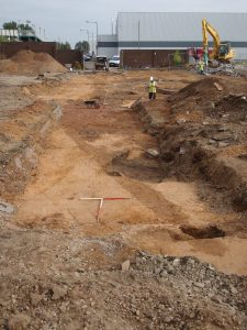 Excavation site showing the linear ditch feature (by Live Science)