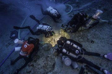 Antikythera shipwreck revealed a human skeleton