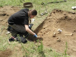 Excavations at Dzwonowo (by Marcin Krzepkowski)