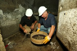 Excavations within the structure (by Daily Sabah)