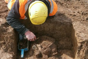 Excavations at the site (by Plymouth Hereld)