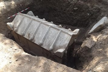 Ancient sarcophagus discovered by the Police searching for stolen car