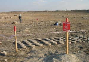 Land mines extracted in 2010 from around Karkemish (by AP)