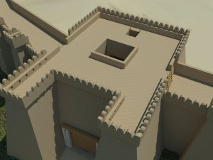Digital reconstruction of the gate complex (by Haaretz)