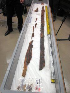 The sword on display (by Asahi Shimbun)