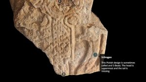 Detail of the Pictish stone (by BBC News)