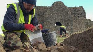 Excavation at Hellfire Club (by Raidió Teilifís Éireann)