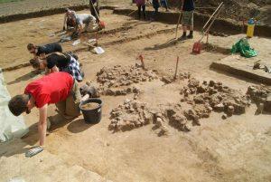 Excavation at the site (by Maciej Dębiec)