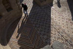 Details of the floor mosaic (by PhysOrg)