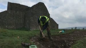 Archaeological fieldwork at the site (by Raidió Teilifís Éireann)