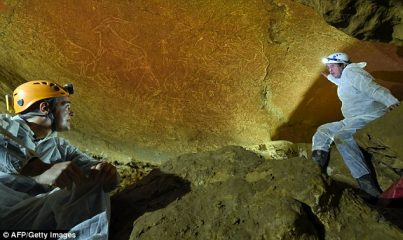 Palaeolithic rock art dated to 14000 years found in Spain