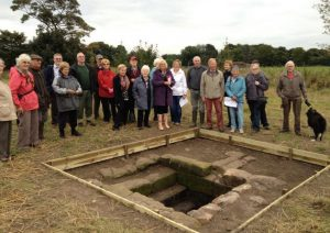 Members of the Rainhill Civic Society and Merseyside Archaeological Society at the site (by St Helens Reporter)