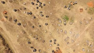 Aerial view of the Plain of Jars (by New Atlas)