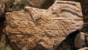 The Pictish stone (by BBC News)