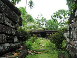 The tomb of the first chief of Nan Madol (by Daily Mail Online)