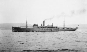 HMS Coreopsis in 1917, which picked up the survivors (by The Guardian)