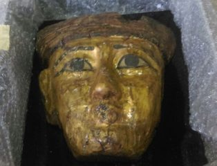 Golden mummy mask handed over by a private owner