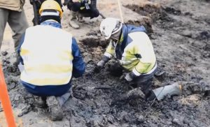 Archaeological work at the site (by The Canberra Times)