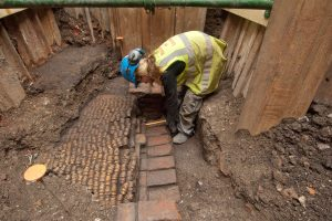 Archaeological examination (by Museum of London Archaeology)