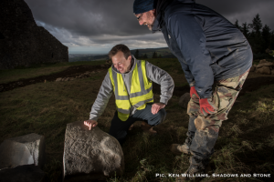 Archaeologists study the stones (by The Journal)