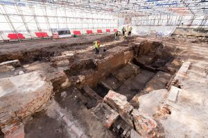 Area of excavations (by Museum of London Archaeology)