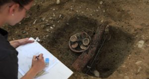 Documentation of the find (Aargau canton archeology department)
