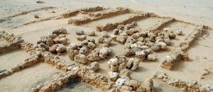Uncovered structures of the harbour (by Pierre Tallet via Haaretz)
