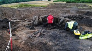 Documentation of a Bronze Age mound (by AOC Archaeology via BBC News)