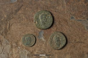 2ndm 3rd and 4th century Roman coins struck in Trier (Emmanuelle Collado & Inrap)