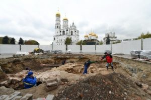 Excavation site at Kremlin (by PhysOrg)