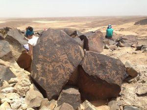 Site with the rock art (by Peter Akkermans via Science Live)