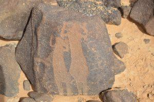 Ancient people depicted in rock art (by Peter Akkermans via Science Live)