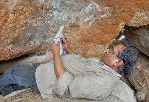 Documentation of rock art found at Marella Balijapalli village (by The Hindu)