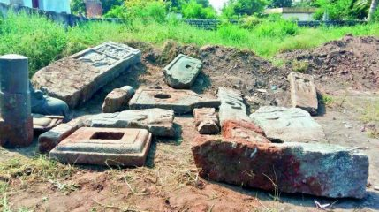 Ancient stone memorials for heroes found in southern India