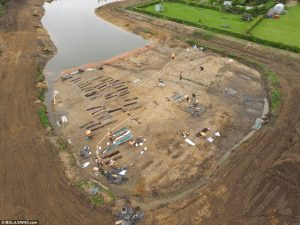Aerial view of the site (by Museum of London Archaeology)