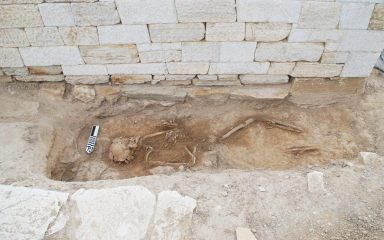 Skeleton of a 5th century worker discovered on a Cycladic island