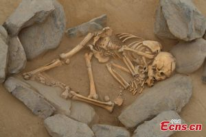 A burial found at the site (by People's Daily Online)