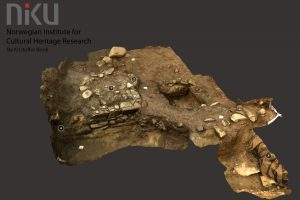 3D model of the excavated church Norwegian Institute for Cultural Heritage via Live Science)