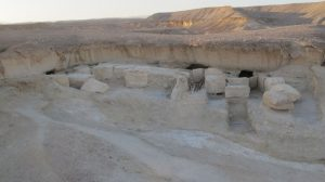 Stone galleries where the finds were made (by Pierre Tallet via Haaretz)