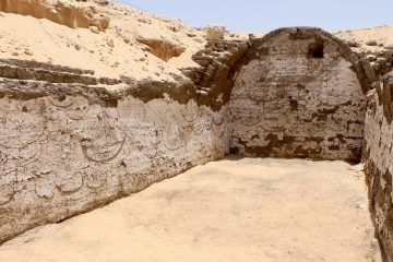 Extensive wall decoration of boats found in ancient Egyptian tomb
