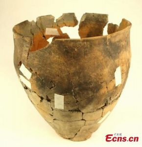 A vessel found on the site (by People's Daily Online)