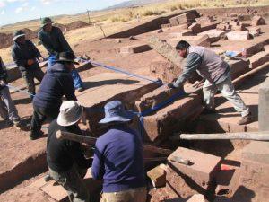 Polish-Italian excavations in Tiwanaku, Bolivia (by Mariusz Ziółkowski)