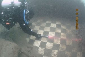 Tiled floor from the Oslofjord (by Mark Willis & Northumbria Scuba Divers)